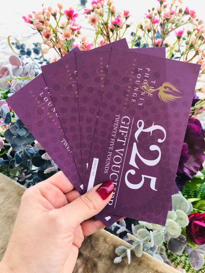 £50 worth of beauty vouchers for The Phoenix Lounge