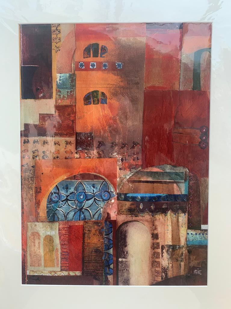 'Sioux' Marrakech 2010 Mixed Media Limited Edition print 1/5 by Fran Holberry