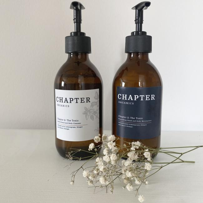 The Tonic Hand and Body Cleanser and The Tonic Hand and Body Moisturiser from Chapter Organics