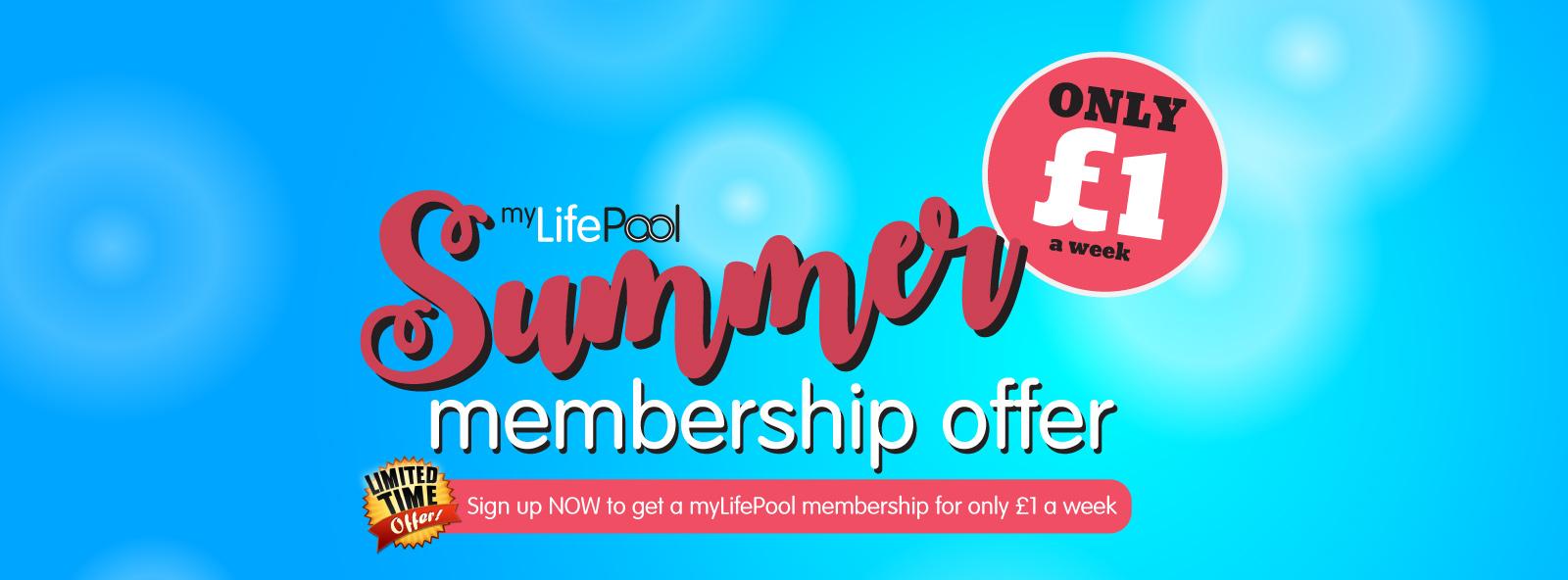 myLifePool Summer Membership Offer