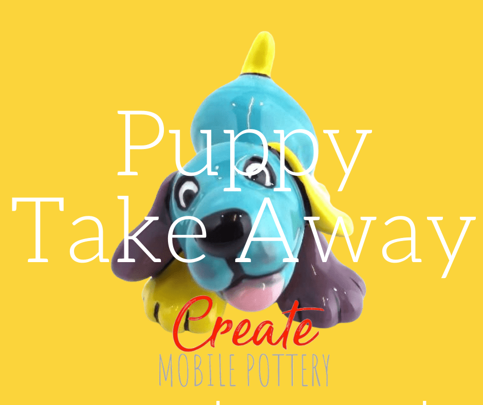 2 x Puppy Takeaway Pack from Create Pottery