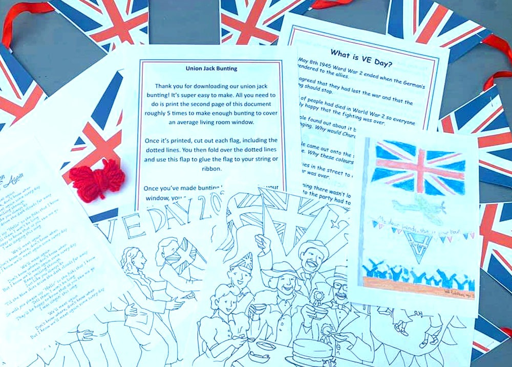 VE Day Pack for your Window